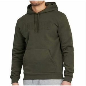 NWT Puma Pullover Logo Forest Green Hoodie